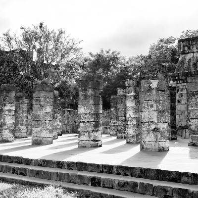¡Viva Mexico! Square Collection - One Thousand Mayan Columns in Chichen Itza V-Philippe Hugonnard-Photographic Print