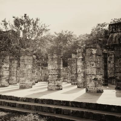 ¡Viva Mexico! Square Collection - One Thousand Mayan Columns in Chichen Itza VI-Philippe Hugonnard-Photographic Print