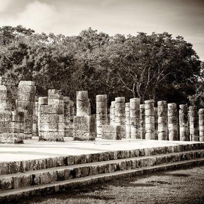 ¡Viva Mexico! Square Collection - One Thousand Mayan Columns in Chichen Itza-Philippe Hugonnard-Photographic Print