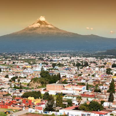 ¡Viva Mexico! Square Collection - Popocatepetl Volcano in Puebla II-Philippe Hugonnard-Photographic Print