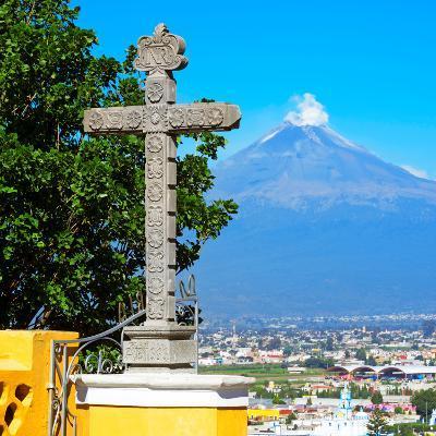 ¡Viva Mexico! Square Collection - Popocatepetl Volcano in Puebla VIII-Philippe Hugonnard-Photographic Print