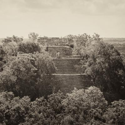 ¡Viva Mexico! Square Collection - Pyramid in Mayan City of Calakmul II-Philippe Hugonnard-Photographic Print