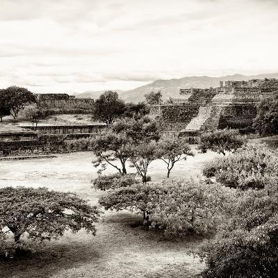 ¡Viva Mexico! Square Collection - Pyramid Maya of Monte Alban II-Philippe Hugonnard-Photographic Print