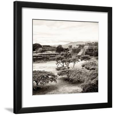 ¡Viva Mexico! Square Collection - Pyramid Maya of Monte Alban II-Philippe Hugonnard-Framed Photographic Print