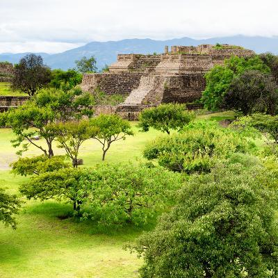 ¡Viva Mexico! Square Collection - Pyramid Maya of Monte Alban IV-Philippe Hugonnard-Photographic Print