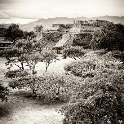 ¡Viva Mexico! Square Collection - Pyramid Maya of Monte Alban V-Philippe Hugonnard-Photographic Print