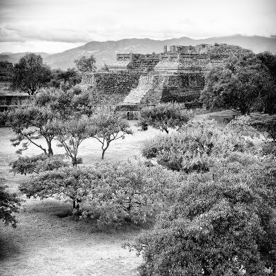 ¡Viva Mexico! Square Collection - Pyramid Maya of Monte Alban VI-Philippe Hugonnard-Photographic Print