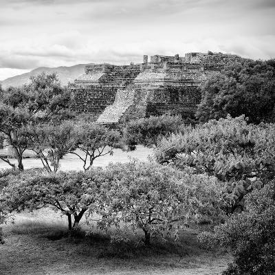 ¡Viva Mexico! Square Collection - Pyramid Maya of Monte Alban-Philippe Hugonnard-Photographic Print