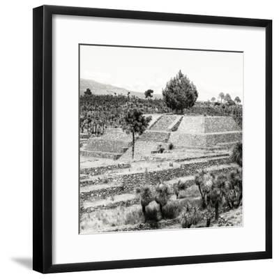 ¡Viva Mexico! Square Collection - Pyramid of Cantona Archaeological Ruins VI-Philippe Hugonnard-Framed Photographic Print
