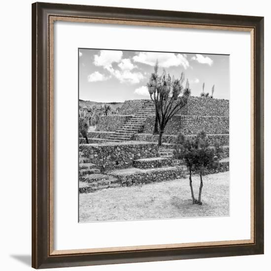 ¡Viva Mexico! Square Collection - Pyramid of Cantona III-Philippe Hugonnard-Framed Photographic Print