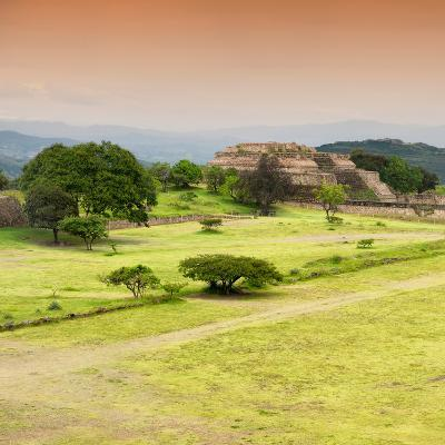 ¡Viva Mexico! Square Collection - Ruins of Monte Alban at Sunset II-Philippe Hugonnard-Photographic Print