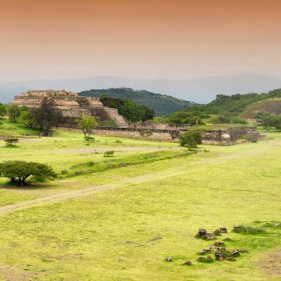 ¡Viva Mexico! Square Collection - Ruins of Monte Alban at Sunset III-Philippe Hugonnard-Photographic Print