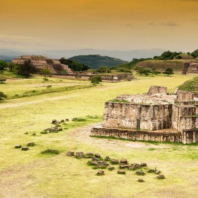 ¡Viva Mexico! Square Collection - Ruins of Monte Alban at Sunset-Philippe Hugonnard-Photographic Print