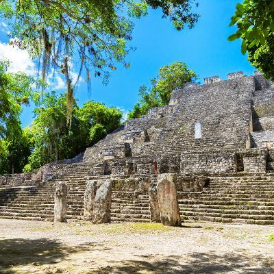¡Viva Mexico! Square Collection - Ruins of the ancient Mayan City of Calakmul II-Philippe Hugonnard-Photographic Print