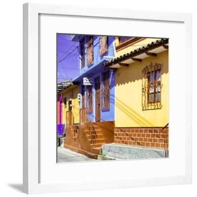 ¡Viva Mexico! Square Collection - San Cristobal Color Houses III-Philippe Hugonnard-Framed Photographic Print