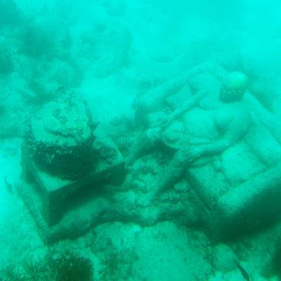 ¡Viva Mexico! Square Collection - Sculptures at bottom of sea in Cancun III-Philippe Hugonnard-Photographic Print