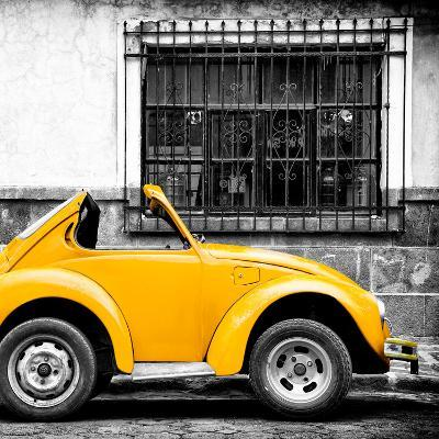 ¡Viva Mexico! Square Collection - Small Yellow VW Beetle Car-Philippe Hugonnard-Photographic Print