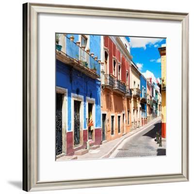 ¡Viva Mexico! Square Collection - Street Scene Guanajuato II-Philippe Hugonnard-Framed Photographic Print