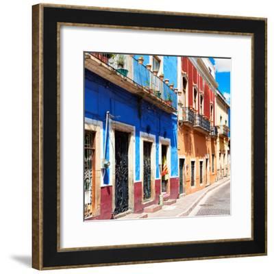 ¡Viva Mexico! Square Collection - Street Scene Guanajuato-Philippe Hugonnard-Framed Photographic Print