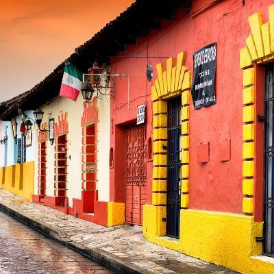 ¡Viva Mexico! Square Collection - Street Scene in San Cristobal de Las Casas II-Philippe Hugonnard-Photographic Print
