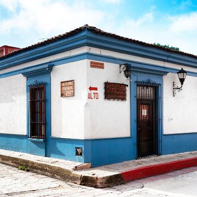 ¡Viva Mexico! Square Collection - Street Scene in San Cristobal de Las Casas III-Philippe Hugonnard-Photographic Print