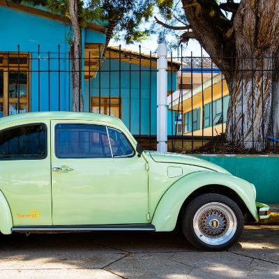"""¡Viva Mexico! Square Collection - """"Summer"""" VW Beetle Car-Philippe Hugonnard-Photographic Print"""