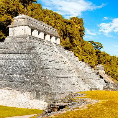 ¡Viva Mexico! Square Collection - Temple of Inscriptions in Palenque III-Philippe Hugonnard-Photographic Print