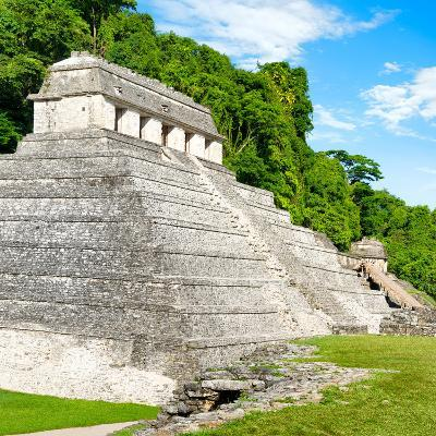 ¡Viva Mexico! Square Collection - Temple of Inscriptions in Palenque-Philippe Hugonnard-Photographic Print