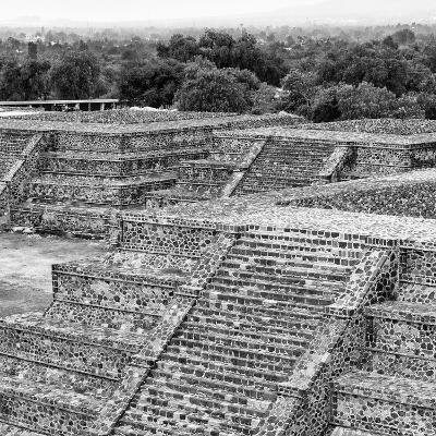 ¡Viva Mexico! Square Collection - Teotihuacan Pyramids Ruins I-Philippe Hugonnard-Photographic Print