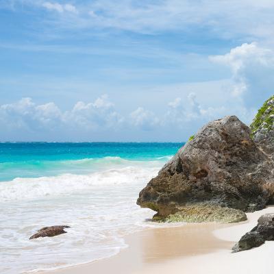 ¡Viva Mexico! Square Collection - Tulum Caribbean Coastline V-Philippe Hugonnard-Photographic Print