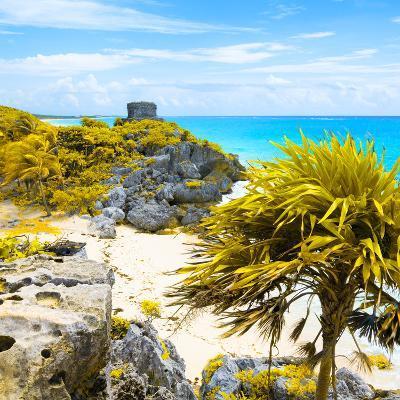 ¡Viva Mexico! Square Collection - Tulum Ruins along Caribbean Coastline II-Philippe Hugonnard-Photographic Print