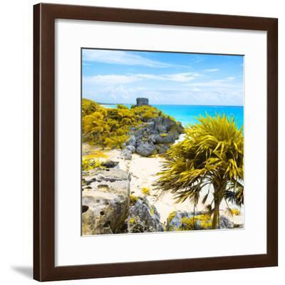 ¡Viva Mexico! Square Collection - Tulum Ruins along Caribbean Coastline II-Philippe Hugonnard-Framed Photographic Print