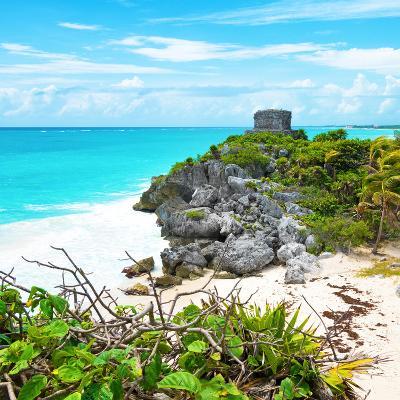 ¡Viva Mexico! Square Collection - Tulum Ruins along Caribbean Coastline III-Philippe Hugonnard-Photographic Print