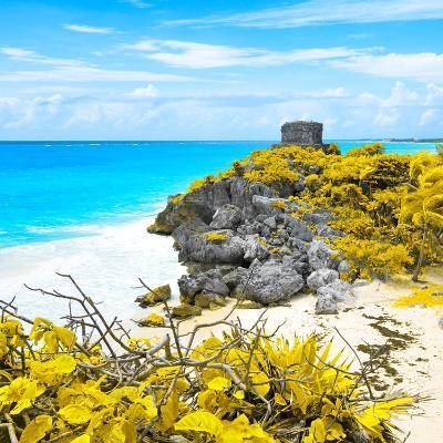 ¡Viva Mexico! Square Collection - Tulum Ruins along Caribbean Coastline V-Philippe Hugonnard-Photographic Print