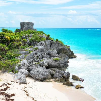 ¡Viva Mexico! Square Collection - Tulum Ruins along Caribbean Coastline VI-Philippe Hugonnard-Photographic Print