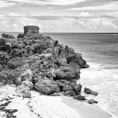 ¡Viva Mexico! Square Collection - Tulum Ruins along Caribbean Coastline VII-Philippe Hugonnard-Photographic Print