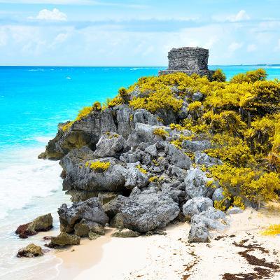 ¡Viva Mexico! Square Collection - Tulum Ruins along Caribbean Coastline XI-Philippe Hugonnard-Photographic Print