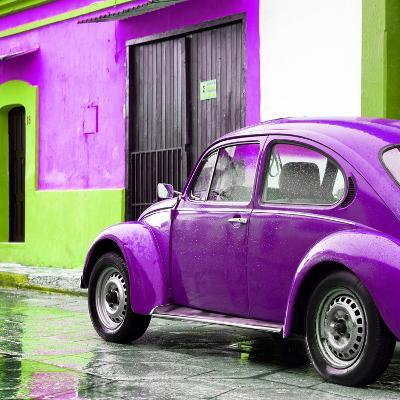 ¡Viva Mexico! Square Collection - VW Beetle and Purple Wall II-Philippe Hugonnard-Photographic Print
