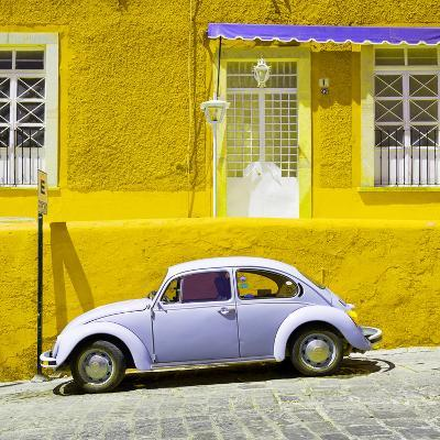 ¡Viva Mexico! Square Collection - VW Beetle Car and Yellow Wall-Philippe Hugonnard-Photographic Print