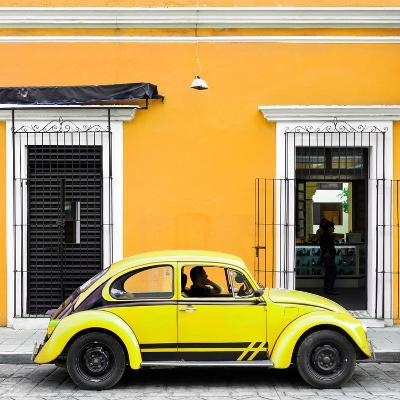 ¡Viva Mexico! Square Collection - VW Beetle Car - Gold & Yellow-Philippe Hugonnard-Photographic Print