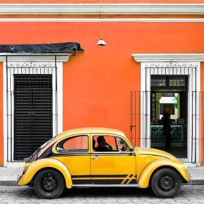 ¡Viva Mexico! Square Collection - VW Beetle Car - Orange & Gold-Philippe Hugonnard-Photographic Print