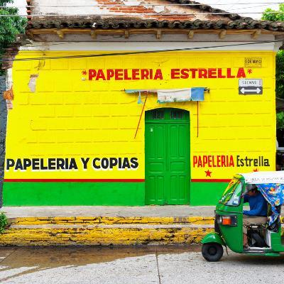 ¡Viva Mexico! Square Collection - Yellow Papeleria-Philippe Hugonnard-Photographic Print