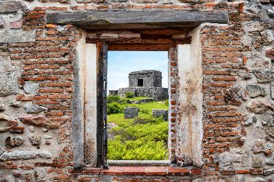 ?Viva Mexico! Window View - Ancient Mayan Fortress in Tulum-Philippe Hugonnard-Photographic Print