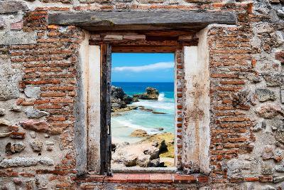 ?Viva Mexico! Window View - Isla Mujeres Coastline-Philippe Hugonnard-Photographic Print