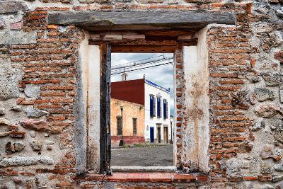 ¡Viva Mexico! Window View - Mexican Street-Philippe Hugonnard-Photographic Print