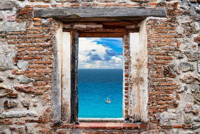 ¡Viva Mexico! Window View - Ocean View-Philippe Hugonnard-Photographic Print
