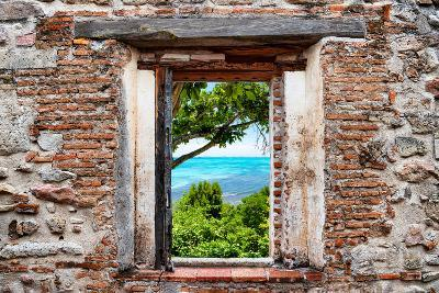 ?Viva Mexico! Window View - Peaceful Paradise in Isla Mujeres-Philippe Hugonnard-Photographic Print