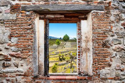 ?Viva Mexico! Window View - Pyramid of Cantona III-Philippe Hugonnard-Photographic Print