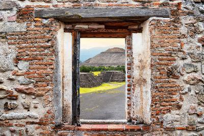 ¡Viva Mexico! Window View - Teotihuacan Pyramids-Philippe Hugonnard-Photographic Print