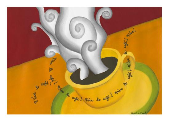 Vive le Cafe!-Renee W^ Stramel-Art Print